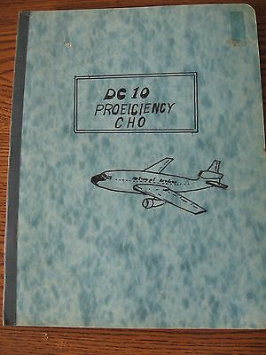 1974 National Airlines DC-10 Jet Planes Proficiency Pilots' Guide Check Study