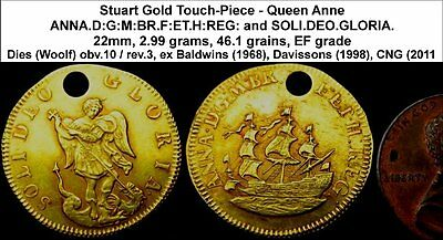 Queen Anne Gold Touch Piece. Guaranteed touched by Anne herself!  WAu-6020