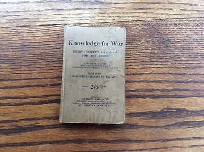 "WW1 Handbook ""Knowledge For War"" Every Officers Handbook for the Front"