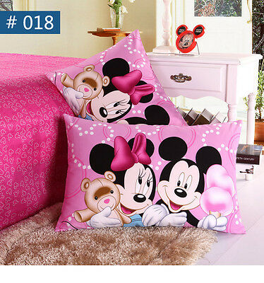 Popular Childrens Disney Mickey Minnie Pillow Case Boys Pillowcases 100% Cotton
