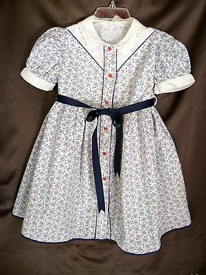 Vintage 1940s GIRL'S COTTON Dress w/ ROSE BUD Print