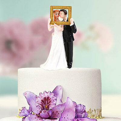 Synthetic Resin Bride&Groom Cake Topper Party Decoration Figurine Craft Gift
