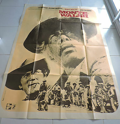 Affiche De Cinema Monte Walsh Lee Marvin Jeanne Moreau   120 *160 114 N ° 2