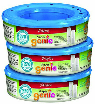 Diaper Genie Refill Pail Bags Pack Of 3 270 Count Baby Infant Toddler Diapering