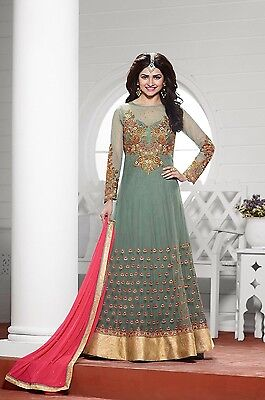 Pakistani    Indian Anarkali Dress For Wedding EID Party Georgette Semi-Stitched
