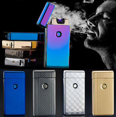 USB Double Arc Rechargeable Lighter Windproof Flameless Cigarette Plasma