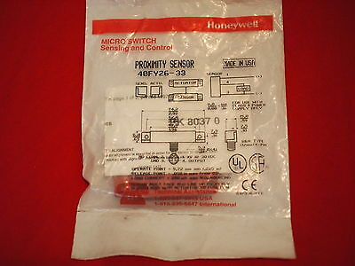 Microswitch By Honeywell 40Fy26-33 *new*  Proximity Switch