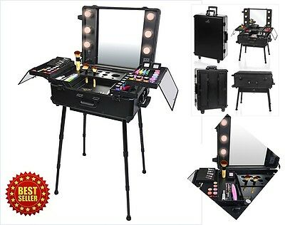 Portable Makeup Artist Studio Cosmetic Organizer with Lights PRO FREE-STANDING