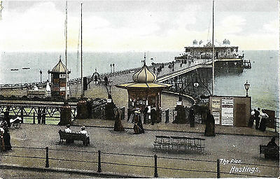 RP Card HASTINGS PIER c1905 - B & R's Card - Unposted