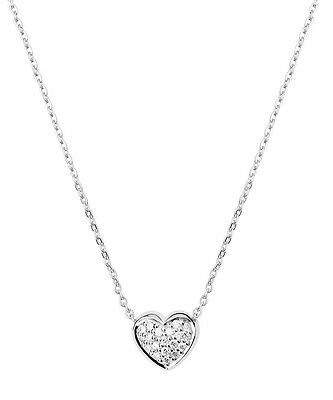 Links of London Pure White Topaz Heart Necklace Silver Pendant Jewellery