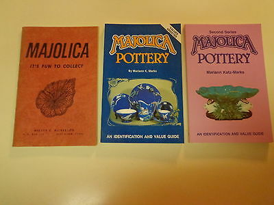 Majolica Collector Books (3) Identification and Value Guides Collection
