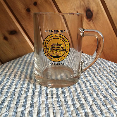 Bicentennial Glass - Town of Hillsborough - NH -