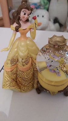Belle Snowglobe Beauty And The Beast Cogsworth