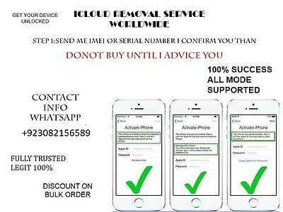 Icloud Removal Service All Imei Supported