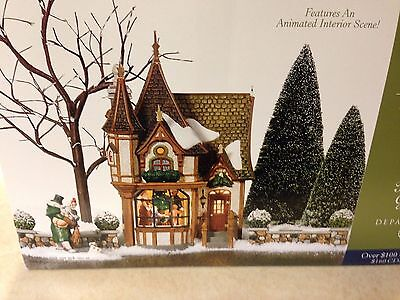 DEPT 56 DICKENS' VILLAGE SERIES 1 ROYAL TREE COURT ANIMATED GIFT SET Rare