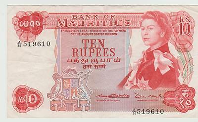 Bank Of Mauritius 10 Rupees