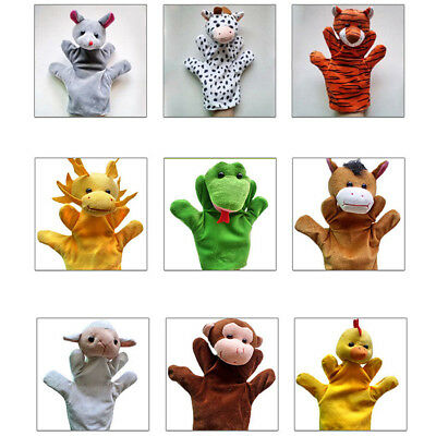 Good Animal Wildlife Hand Glove Puppets Soft Plush Kids Childrens Toy Gift cute