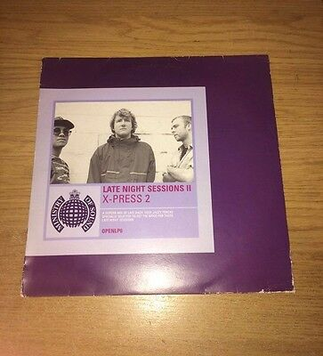"""Ministry of Sound: X-Press 2 – Late Night Sessions II 3x 12"""" Vinyl (House) 1997"""