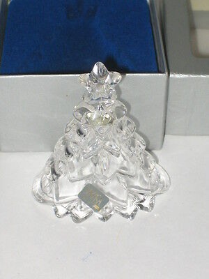 Mikasa Crystal Glass Christmas Tree Bell Germany in Box