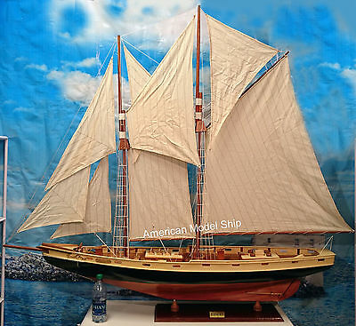 """Bluenose II Sailing Ship Boat Model 70"""" XL Size - Handcrafted Wooden Ship Model"""