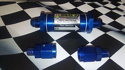 """Earl's NOS Performance Kit: (1) -6 Fuel Filter with (2) -6 to 1/8"""" NPT Swivel"""
