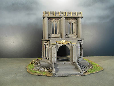 *fully Painted & Assembled 28Mm Wargames Buildings Terrain Warhammer 40K Urban