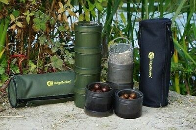 Ridgemonkey NEW Modular Hookbait Pots x 4 + Case Green or Black Carp Fishing
