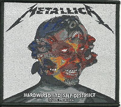 METALLICA - Hardwire 2016 - WOVEN SEW ON PATCH - free shipping