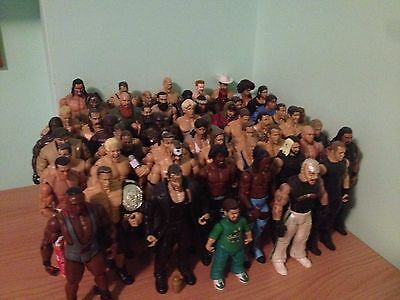 Lotto 60 Personaggi Action Figure Wwe Wrestling