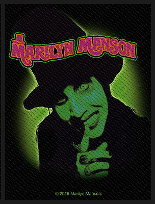 Marilyn Manson - Smells like  - WOVEN SEW ON PATCH - free shipping