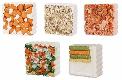 Pet Treat Chewy Mineral Block for Rabbits Guinea Pigs Hamsters Many Flavors