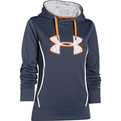 Under Armour Wms Storm Caliber Hoodie Mechanic Blue LG 1247106-467-LG