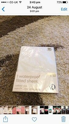 Waterproof Fitted Sheet Cot size