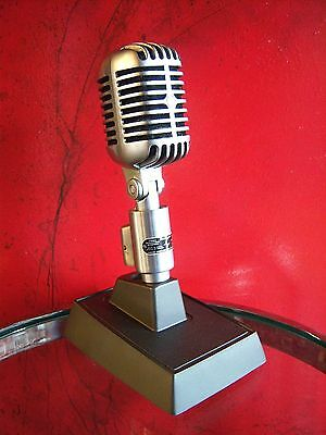 Vintage 1960's Shure 556 S dynamic microphone Elvis old w Shure S37A stand
