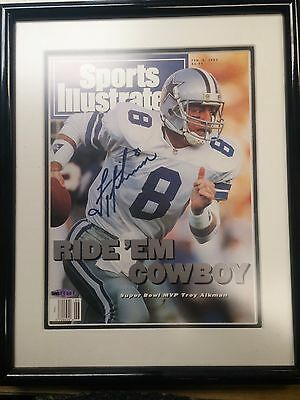 Troy Aikman Dallas Cowboys Autographed Sports Illustrated Magazine Cover (COA)