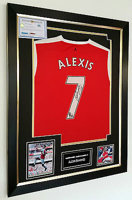 ** NEW Alexis Sanchez of Arsenal Signed Shirt with AFTAL DEALER COA ***