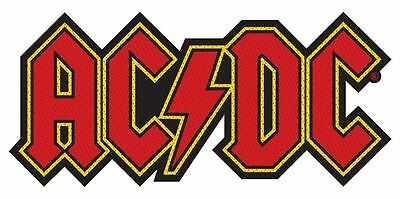 AC/DC - logo 2016  - WOVEN SEW ON PATCH - free shipping
