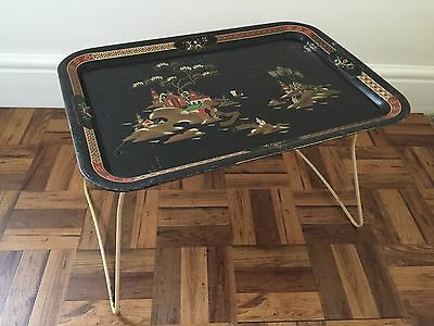 Vintage Retro Shabby Chic Tray / Continental / Chinese