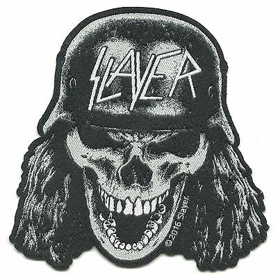SLAYER - skull helmet 2016  - WOVEN SEW ON PATCH - free shipping