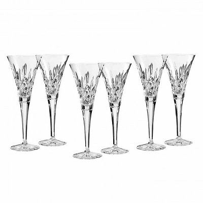 Waterford Crystal Lismore Classic Set of Six Toasting Flutes Brand New
