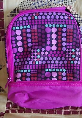 Girls ~Pink Geo Dual Comp ~Lunch Bag