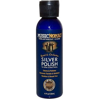 Music Nomad Silver Polish for Silver & Silver Plated Instruments 4oz. Bottle