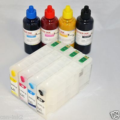 4X100ML sublimation refillable ink cartridge for Epson WP-4020 WP-4530 WP-4540