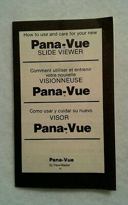 Pana-Vue Automatic Lighted 2x2 Slide Viewer Instruction Manual Replacement Part