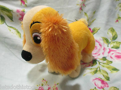 """**GIFT* Disney Store Exclusive - Lady & The Tramp LADY THE DOG Soft Plush Toy 8"""""""