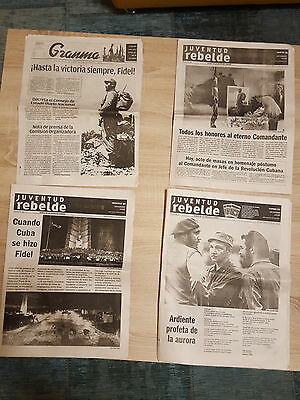 Zeitung Newspaper Fidel Castro death all special issuance