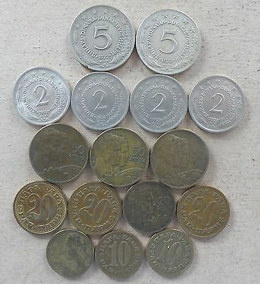 Coins from Yugoslavia.