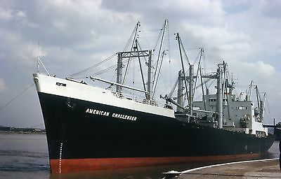 6x4 SIZE PHOTOGRAPH OF THE CARGO SHIP  AMERICAN CHALLENGER