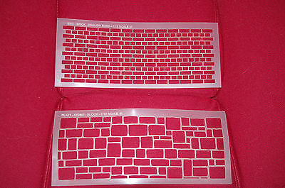 Stencils Brick / block  for dolls houses. scale 1:12