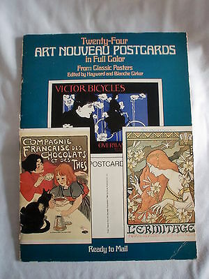 Twentty- Four Art Nouveau Postcards in full color from classic posters